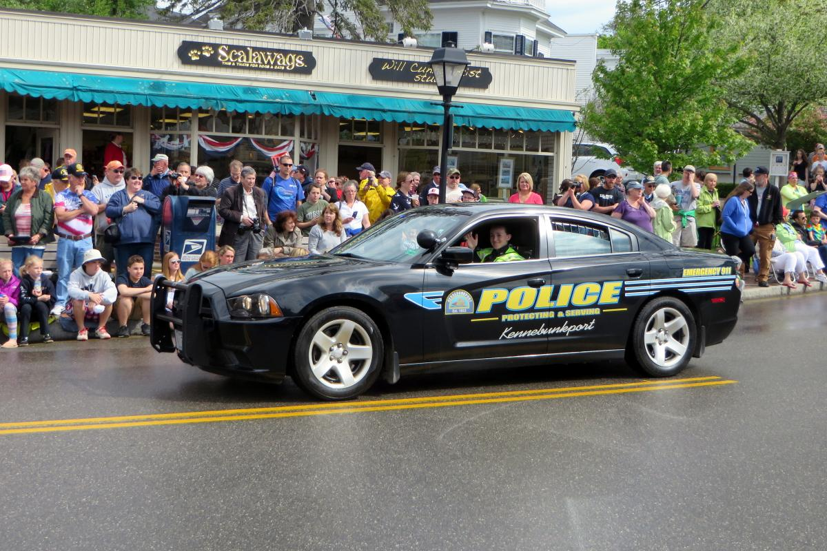 Officer Cox in the Memorial Day Parade 2014