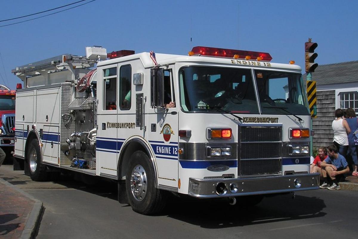 "Engine 12: 1997 Pierce Dash - 1500 GPM pump, 1000 gallon water tank, 2000' 4"" hose, Class A Foam Purchased by the Clifford Seavey Trust."