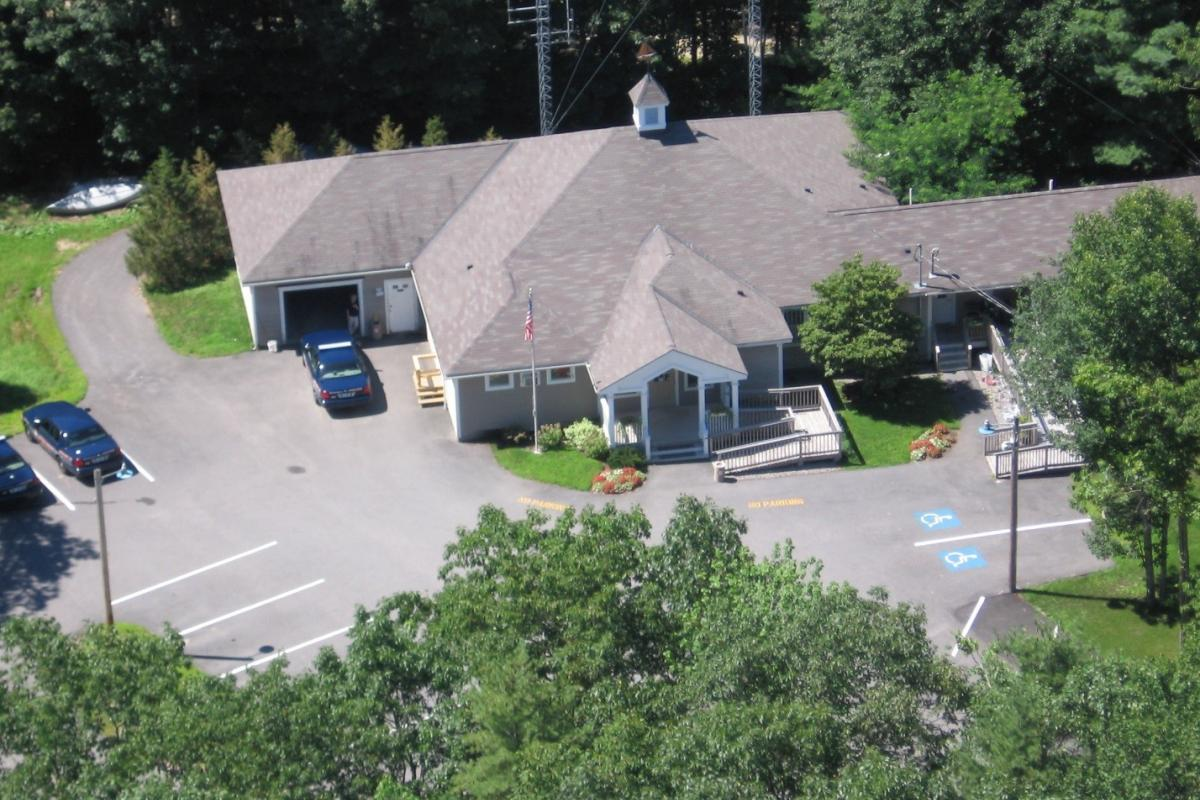 Arial view of the Kennebunkport Police Department