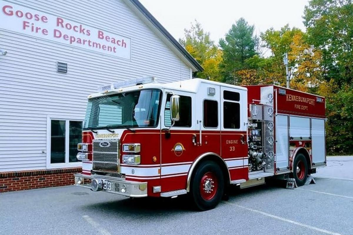 "Engine 33: 2017 Pierce Saber Pumper - 1250 GPM pump, 1000 gallon water tank, 2000' 4"" hose"