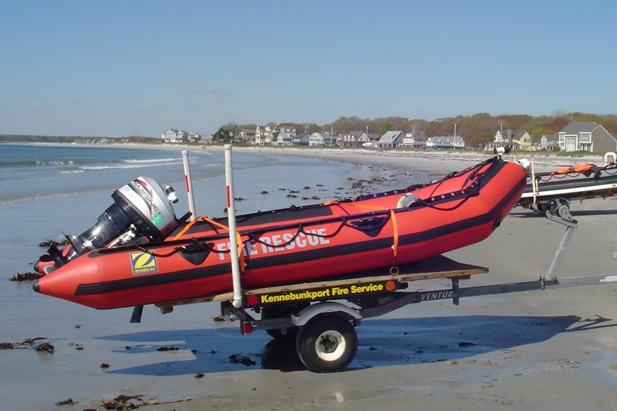 Marine 2: 2008 14' Zodiac MK II GR Inflatable Rescue Boat & Trailer - Equipped for cold water search & rescue and pollution control operations