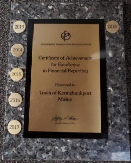 2018 CAFR Award