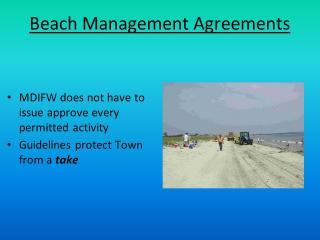 Beach Management Agreements