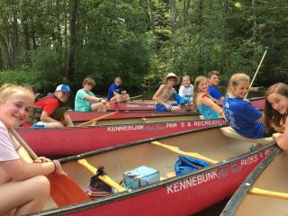 Kids canoe trip